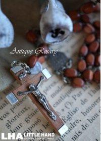 ITALY antique 素敵なロザリオ 十字架 1950-60's