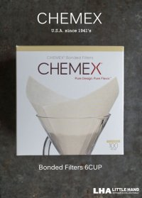 【10%OFF】U.S.A.【CHEMEX】Bonded Filters 6CUP ケメックス コーヒーメーカー専用コーヒーフィルター6カップ用 [100枚入]