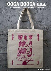 【アメリカ直輸入・日本未発売】LA【Ooga Booga】TOTE BAG ウーガブーガ トートバッグ Magenta