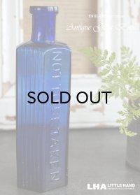 ENGLAND antique 鮮やかなコバルトブルー アンティーク ガラスボトル (6oz)H15.3cm ガラス瓶 1900-20's
