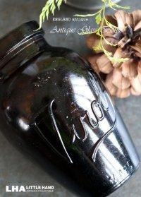 ENGLAND antique Virol (Mサイズ)ガラスボトル アンバーガラスボトル 瓶 1920-30's