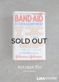 USA antique ジョンソン&ジョンソン BAND-AID バンドエイド缶 1982's