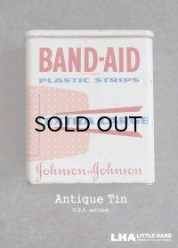 USA antique ジョンソン&ジョンソン BAND-AID バンドエイド缶 1970-90's