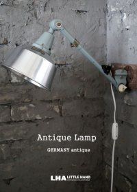 GERMANY antique Midgard ミッドガルド ランプ 1アーム インダストリアル 工業系 1950-60's バウハウス