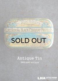ENGLAND antique Allenburys GLYCERINE & BLACK CURRANT PASTILLES TIN ブリキ缶 1930's