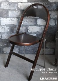 U.S.A. antique STAKMORE FOLDING CHAIR NEW YORK フォールディングチェア 折りたたみ椅子 1925's