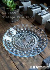 【Fire-king】 ファイヤーキング サファイヤブルー バブル ブレッド&バタープレート 1941-68's