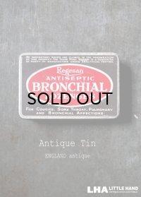 ENGLAND antique イギリスアンティーク Boots BRONCHIAL LOZENGES ティン缶 ブリキ缶 1920-30's