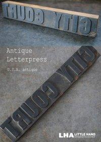 U.S.A. antique アメリカアンティーク 木製 プリンターブロック アルファベット H3.8cm スタンプ はんこ 1930-60's