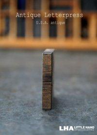 U.S.A. antique アメリカアンティーク 木製プリンターブロック【I】 H3.4cm スタンプ はんこ 数字 1900-40's