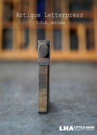 U.S.A. antique アメリカアンティーク 木製プリンターブロック【i】 H4.2cm スタンプ はんこ 数字 1900-40's