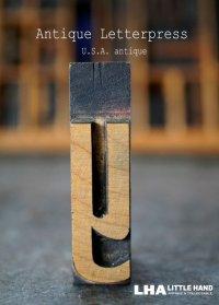 U.S.A. antique アメリカアンティーク 木製プリンターブロック【y】 H5.3cm スタンプ はんこ 数字 1900-40's