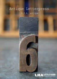 U.S.A. antique アメリカアンティーク 木製プリンターブロック【a】 H5cm スタンプ はんこ 数字 1900-40's