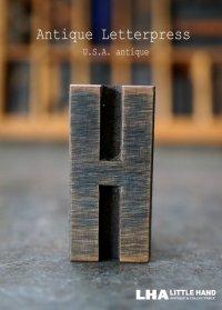 U.S.A. antique アメリカアンティーク 木製プリンターブロック【H】 H4.2cm スタンプ はんこ 数字 1900-40's
