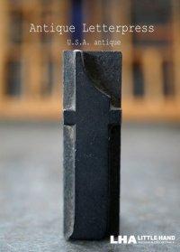 U.S.A. antique アメリカアンティーク 木製プリンターブロック【t】 H5cm スタンプ はんこ 数字 1900-40's