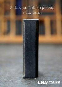 U.S.A. antique アメリカアンティーク 木製プリンターブロック【I】 H5cm スタンプ はんこ 数字 1900-40's