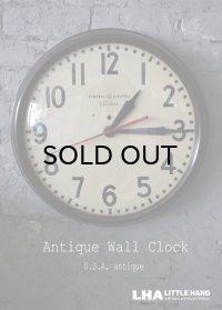 U.S.A. antique GENERAL ELECTRIC×Telechron  wall clock GE アメリカアンティーク ゼネラル エレクトリック ×テレクロン 掛け時計 ヴィンテージ スクール クロック 特大45cm 1940-50's