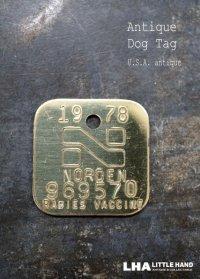 U.S.A. antique Dog Tag アメリカアンティーク ヴィンテージ ドッグタグ 1978's ロゴ入り ナンバープレート ナンバータグ タグ