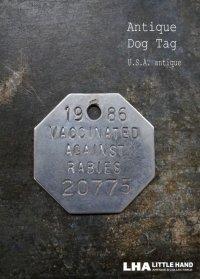 U.S.A. antique Dog Tag アメリカアンティーク ヴィンテージ ドッグタグ 1986's ロゴ入り ナンバープレート ナンバータグ タグ