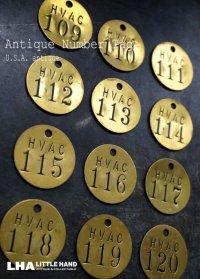 U.S.A. antique TAG アメリカアンティーク ヴィンテージ ロゴ入り ナンバータグ ナンバープレート ブラスタグ 真鍮 タグ 1950-60's