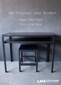 LHA 【LITTLE HAND ANTIQUE】 ORIGINAL IRON PRODUCT 【Iron Compact Desk/Table】アイアン コンパクト デスク/テーブル 鉄 インダストリアル 工業系