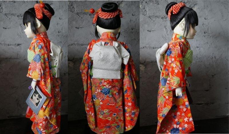 """画像2: Margaret Keane's International """" Big Eyes"""" Children Signatue Collection Doll YOKO  箱付き"""