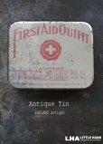 画像1: ENGLAND antique イギリスアンティーク FIRST AID 缶 ティン缶 ブリキ缶 1920-30's (1)