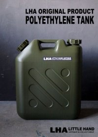 【LHA】 ORIGINAL PRODUCT 【POLYETHYLENE TANK】 ポリエチレンタンク 灯油缶 20L 燃料缶 かっこいい 燃料タンク ARMY ミリタリー ジェリカンスタイル ガレージ おしゃれ デザイン ポリエチレン缶 貯水タンク インダストリアル 工業系