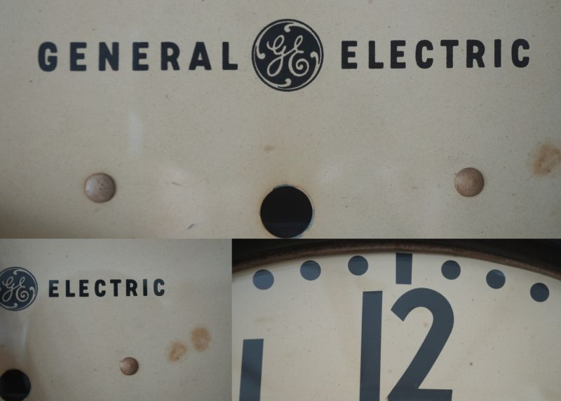U.S.A. antique GENERAL ELECTRIC wall clock GE ゼネラル エレクトリック 掛け時計 クロック 特大45cm 1950-60's