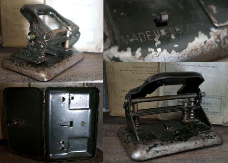 画像4: ENGLAND antique 渋い穴あけパンチ 1930's