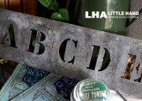 FRANCE antique 渋い ステンシルプレート ABCDE アルファベット 1930-40's