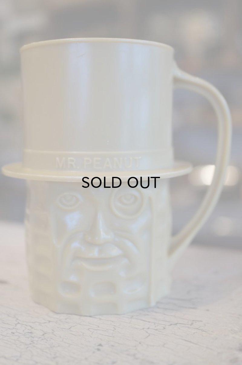 画像1:  ミスターピーナッツ プラスチックマグカップ ベージュ