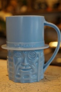 ミスターピーナッツ プラスチックマグカップ ブルー
