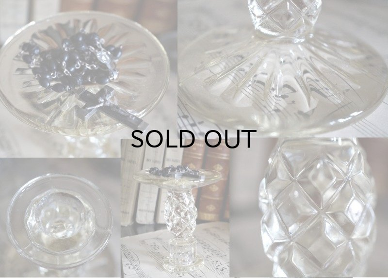 画像3: ENGLAND antique 素敵なガラス キャンドルスタンド キャンドルホルダー 1930's