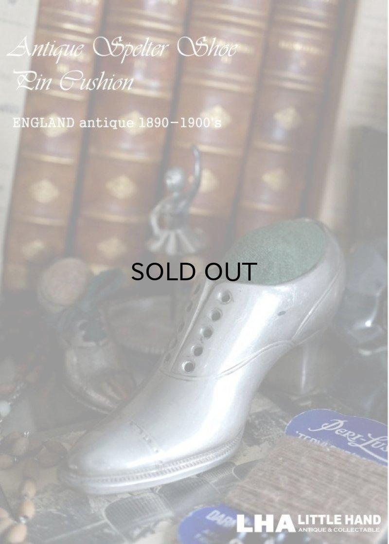 画像1: ENGLAND antique 素敵な靴型 ピンクッション (M) 1890-1900's