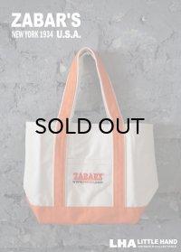 【アメリカ直輸入・日本未発売】NY【ZABAR'S】TOTE BAG ゼイバーズ トートバッグ [S]ORANGE