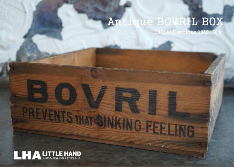 画像2: 【RARE】ENGLAND antique BOVRIL BOX 木製ウッドボックス[スクエア] 1910-30's