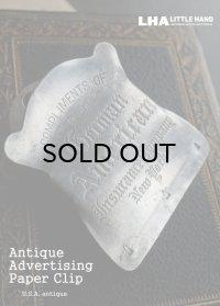 USA antique PAPER CLIP アドバタイジング ペーパークリップ 広告入り 1950-60's
