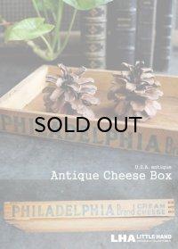USA antique PHILADELPHIA 薄型 木製チーズボックス 木箱 1900-1930's
