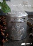 画像1: FRANCE antique MINERALINE DU DR C.BAUD パウダーアルミ缶 H7.9cm アルミケース 1930-50's (1)