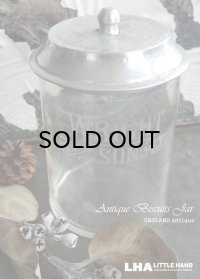 【RARE】 ENGLAND antique WRIGHT & SON ガラス ビスケットジャー W&S 1900-20's