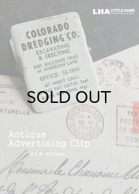 USA antique PAPER CLIP アドバタイジング ペーパークリップ 広告入り 1950's