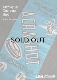 USA antique ACRASHOT アドバタイジング キャンバス地 弾丸袋 バッグ 布袋 1950-70's