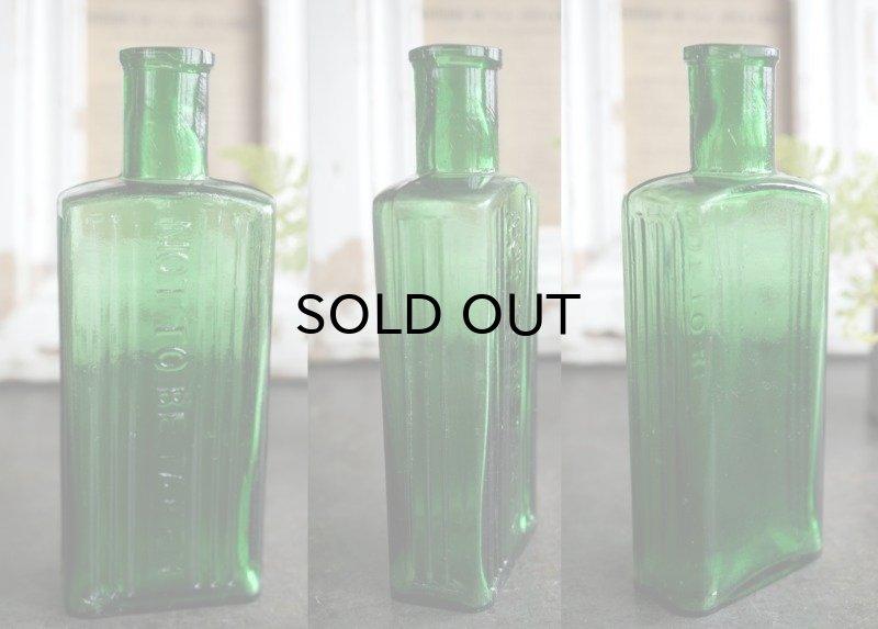 画像2: ENGLAND antique NOT TO BE TAKEN アンティーク ガラスボトル[4oz] H14cm ガラス瓶 1900-20's