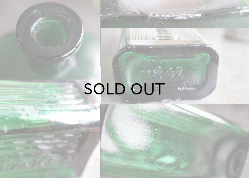 画像3: ENGLAND antique NOT TO BE TAKEN アンティーク ガラスボトル[8] H16.3cm ガラス瓶 1900-20's