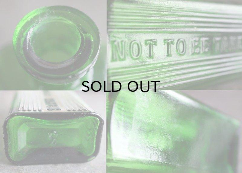 画像3: ENGLAND antique NOT TO BE TAKEN アンティーク ガラスボトル[3oz] H11.4cm ガラス瓶 1900-20's