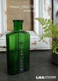 画像1: ENGLAND antique NOT TO BE TAKEN アンティーク ガラスボトル[3oz] H11.4cm ガラス瓶 1900-20's (1)