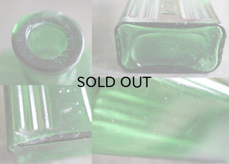 画像3: ENGLAND antique NOT TO BE TAKEN アンティーク ガラスボトル[4oz] H14cm ガラス瓶 1900-20's