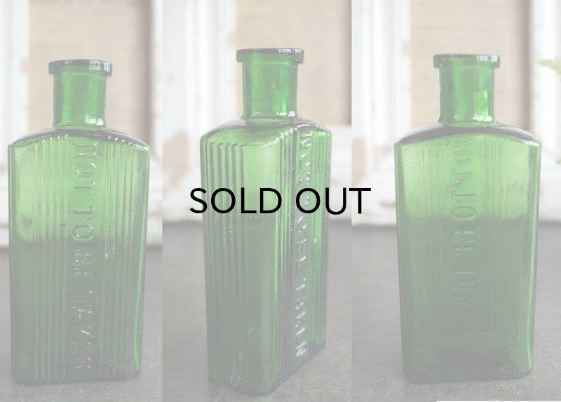 画像2: ENGLAND antique NOT TO BE TAKEN アンティーク ガラスボトル[3oz] H11.4cm ガラス瓶 1900-20's