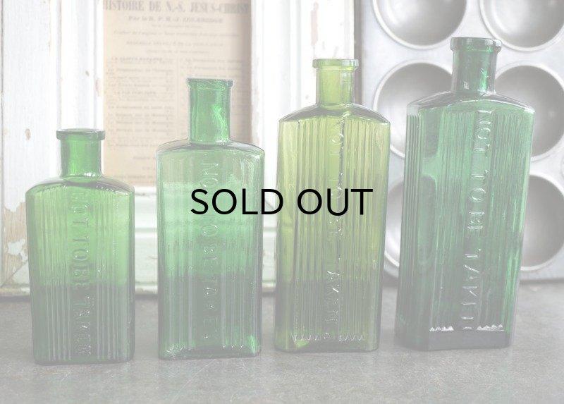 画像4: ENGLAND antique NOT TO BE TAKEN アンティーク ガラスボトル[3oz] H11.4cm ガラス瓶 1900-20's